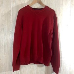 Tommy Hilfiger Red Crewneck Sweater Size XL EUC